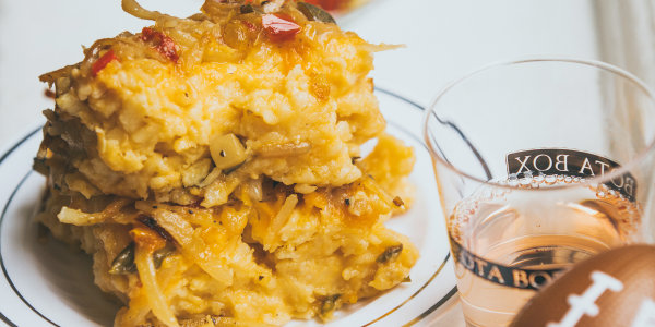 Hash Brown Mac and Cheese