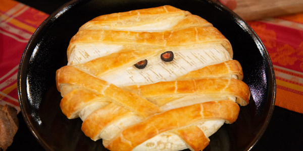 Pastry Puff Wrapped Mummy Brie