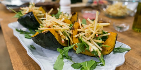 Roasted Buttercup Squash with Apple Slaw