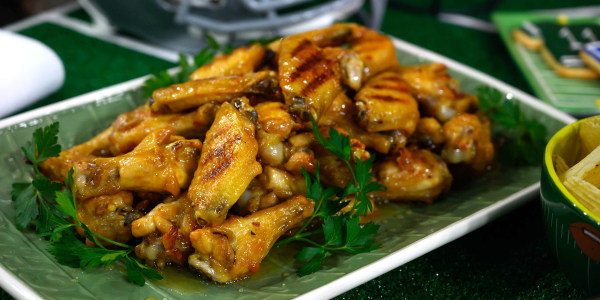 Chicken Wings with Honey-Cider Brown Butter Sauce