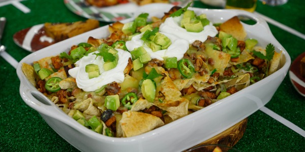 Loaded Mexican Veggie Nachos