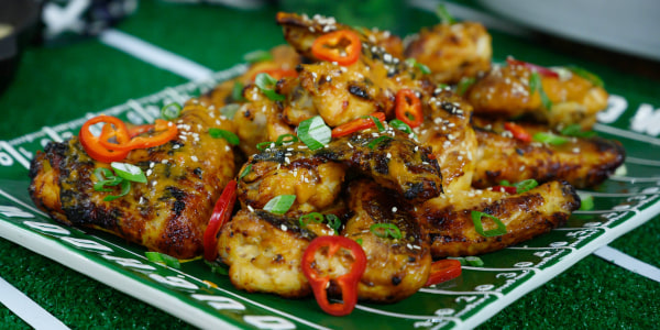 Spicy Grilled Sesame Chicken Wings
