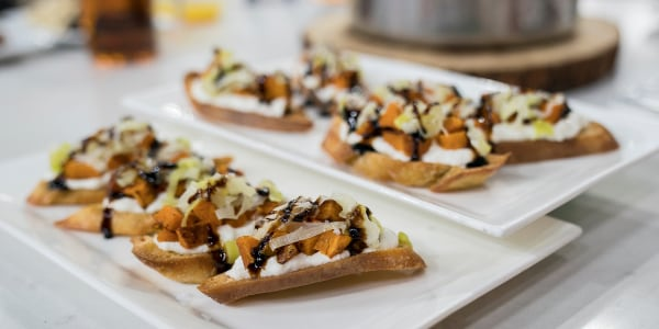 Siri's Butternut Squash, Leek and Ricotta Toast