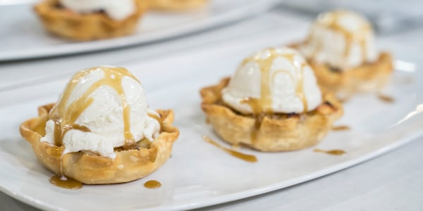 Siri's Mini Apple Tarts with Salted Caramel Sauce