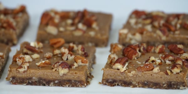Vegan and Gluten-Free Pecan Bars