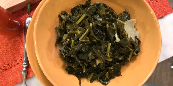 Sheinelle's Dad's Spicy Collard Greens