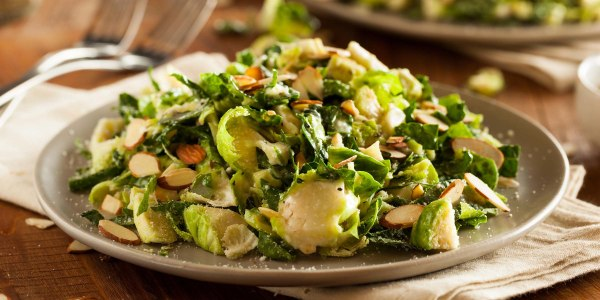 Shaved Brussels Sprout Salad with Hazelnuts