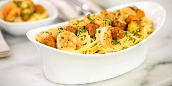 Scott Conant's Spaghetti with Shrimp and Clams