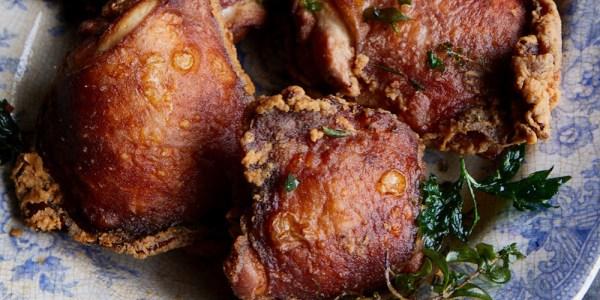 Turned Wine Fried Chicken