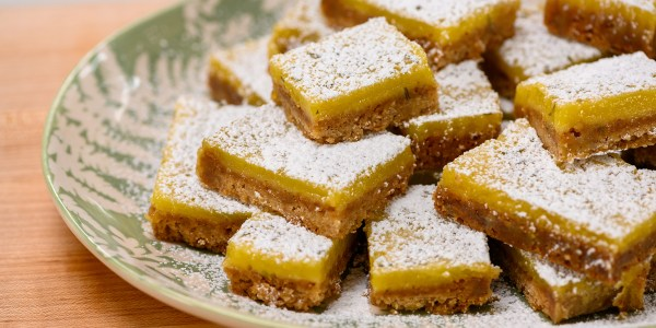 Rosemary-Lemon Pecan Bars