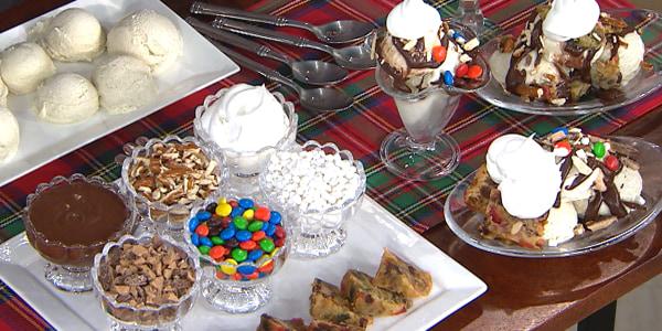 Michael Lomonaco's Fruitcake Sundaes