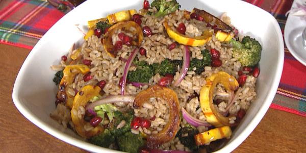 JJ Johnson's Crispy Rice, Broccoli and Squash Salad