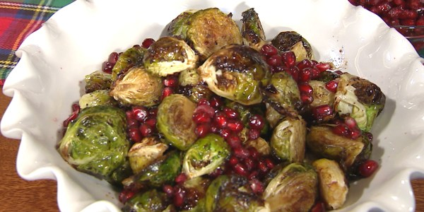 Gaby Dalkin's Roasted Brussels Sprouts with Pomegranate