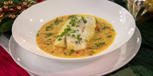 Eric Ripert's Poached Snapper with Coconut Milk and Tomatoes
