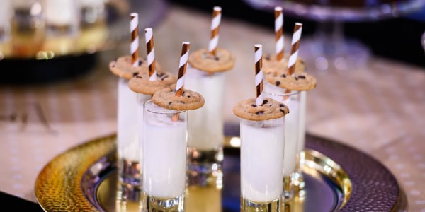Vanilla Milk and Chocolate Chip Cookie Shooters