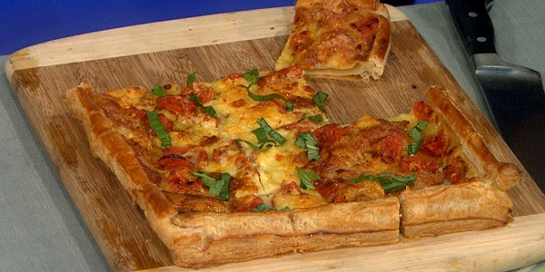 Tomato, Brie and Basil Tart