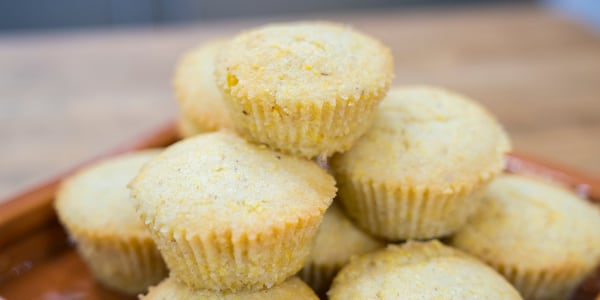 Vegan Cornbread Muffins with Whipped Maple 'Butter'