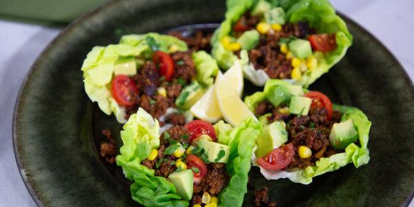 Mushroom 'Chorizo' Lettuce Tacos