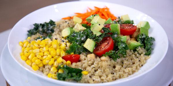 Rainbow Quinoa Bowls