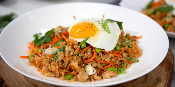 Anne Burrell's Turkey Fried Rice with Sunny-Side Up Egg
