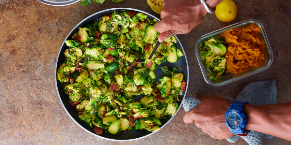 Bacon-Fried Brussels Sprouts