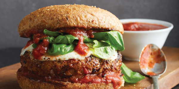 Healthy Grilled Pizza Burgers