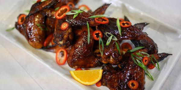 Orange-Hoisin Chicken Wings