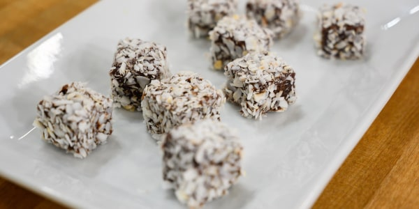 Curtis Stone's Chocolate-Coconut Lamington Cakes