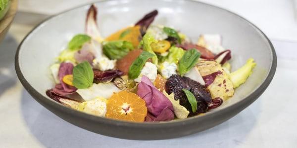 Escarole and Citrus Salad with Gorgonzola and Basil