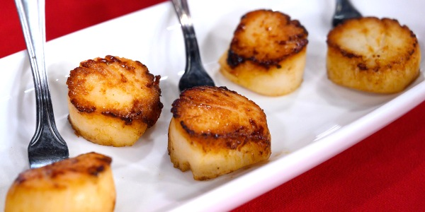 Seared Scallops with Caper Beurre Blanc