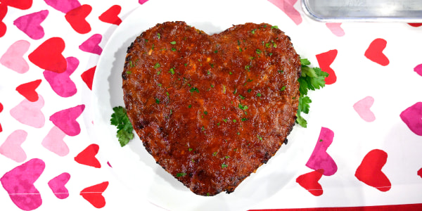 Siri's Heart-Shaped Meatloaf