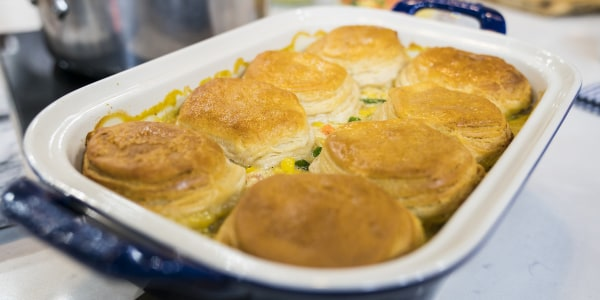 Chicken Potpie with Biscuit Topping