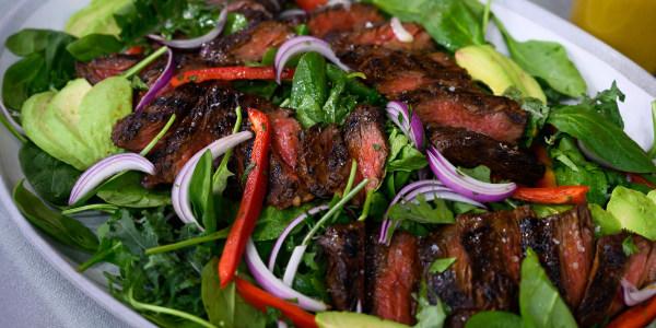 Chile-Maple Skirt Steak Salad