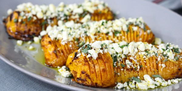 Maple Glazed Hasselback Butternut Squash