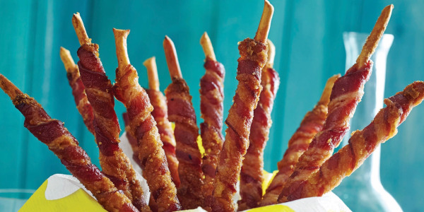 Candied Bacon Breadsticks or Grissini
