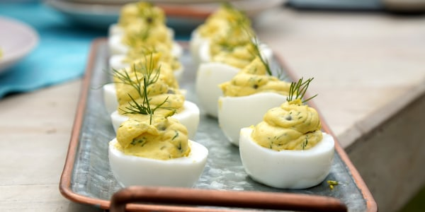 Capered Deviled Eggs