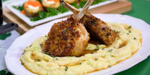 Soda-Breaded Pork Chops with Colcannon