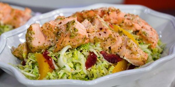 Citrus Salmon Salad with Napa Cabbage