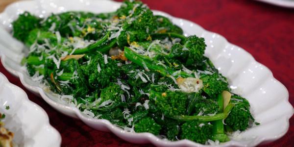 Michael Symon's Rapini (Broccoli Rabe) with Lemon and Parmesan