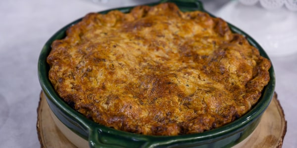 Beef-and-Guinness Pie with a Cheddar Crust