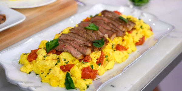 Donatella Arpaia's Steak and Eggs