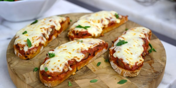 Open-Faced Steak Pizzaiola Sandwiches with Mozzarella