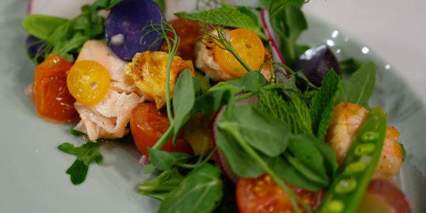 Spring Spiced Salmon Salad