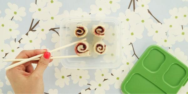 PB&J Sushi Sandwiches