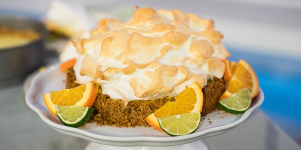 Sunny's Orange-Lime Pie with Meringue Topping