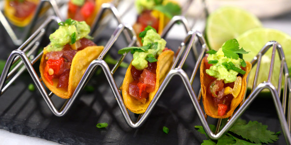 Mini Italian Tuna Tacos with Guacamole