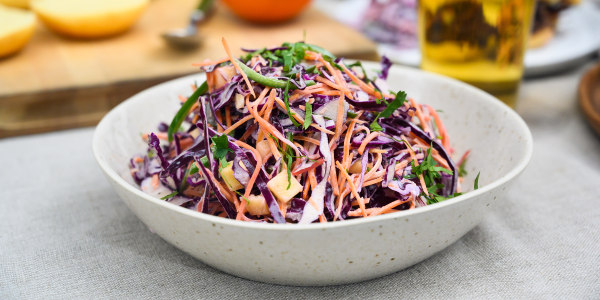 Purple Coleslaw with Jalapeño and Pineapple