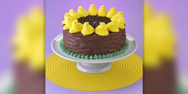Sunflower Spring Cake With Peeps