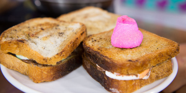 Grilled Nutella and Peeps Dessert Sandwiches
