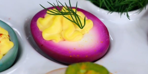 Pickled Beet Deviled Eggs